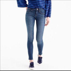J. Crew Toothpick Jeans 31 Dark Wash Ankle Midrise